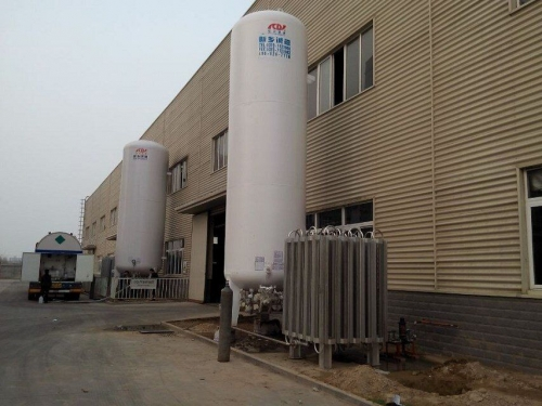 Liquid CO2 storage tanks and CO2 storage tank